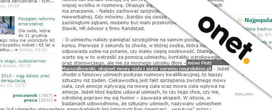 Praca od pierwszego wejrzenia dla onet.pl